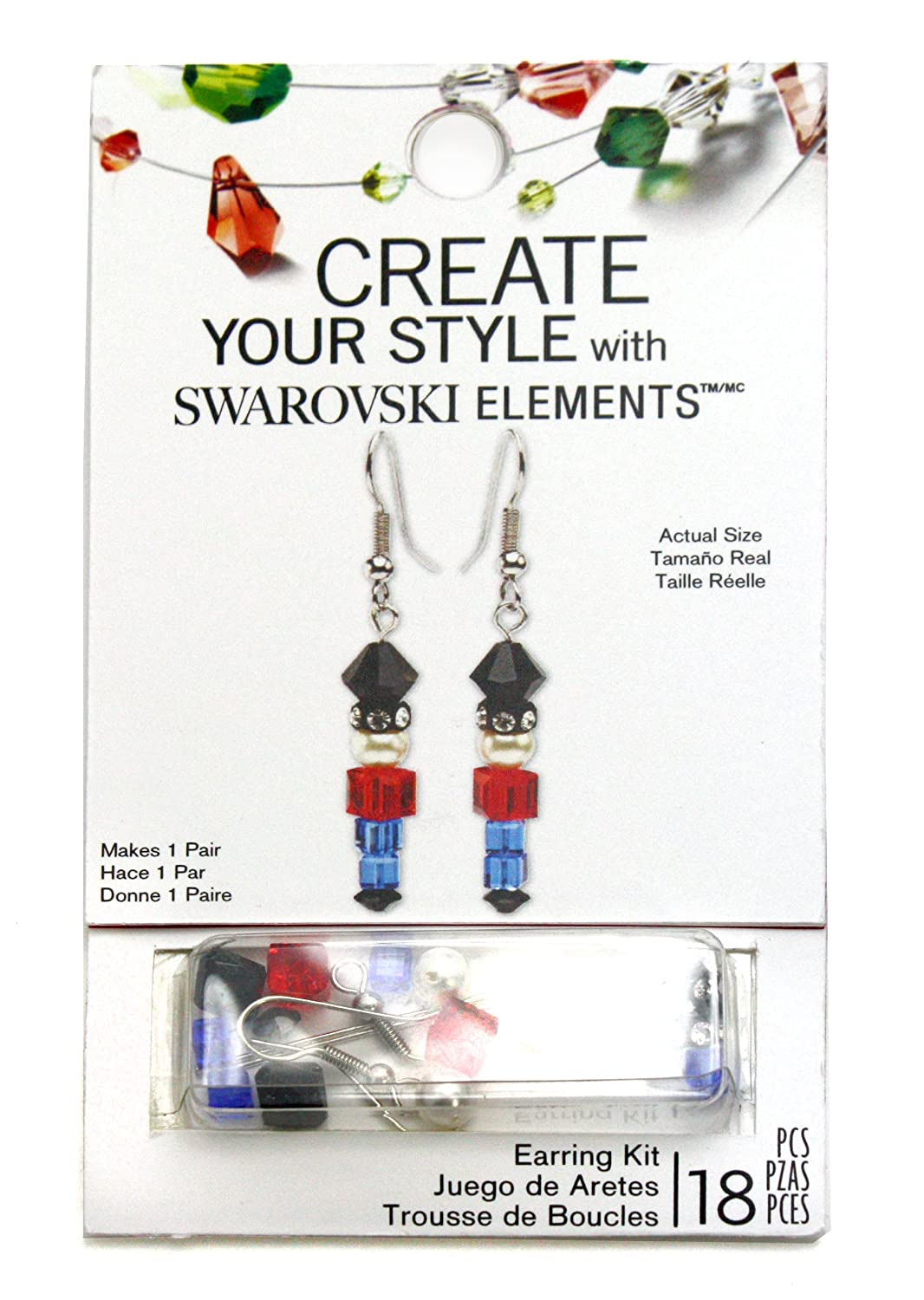 bd11d9f66 Amazon.com: Swarovski Toy Soldier Earring Kit by Create Your Style, 18  Pieces