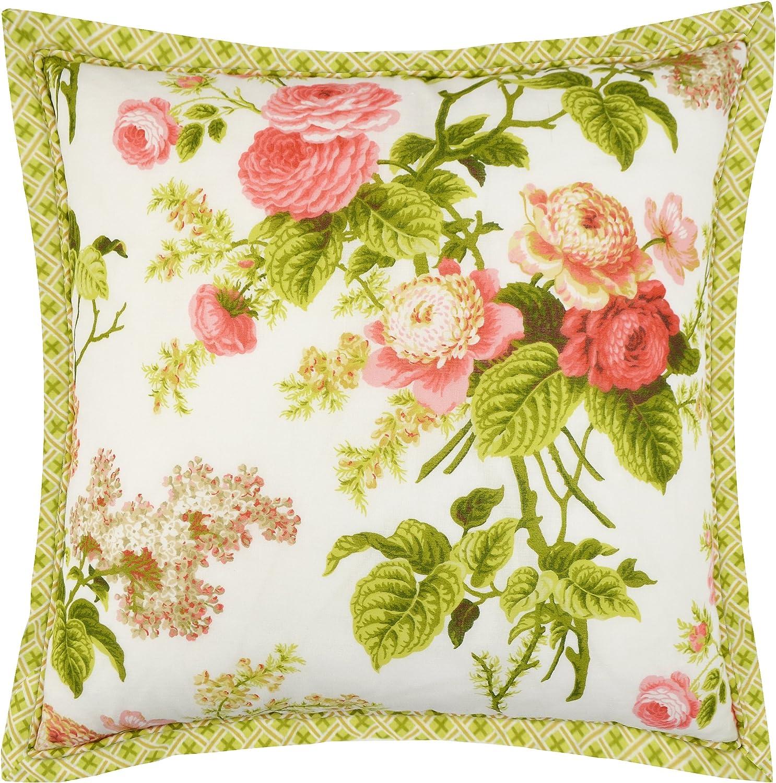 "WAVERLY Emma's Garden Decorative Pillow, 18"" x 18"", Blossom"