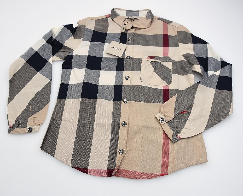 Burberry Camisa para NIÑA Beis Check Color Art. B15B40 10 Anni - 10 Years (138 CM) Fantasia Beige Check Color: Amazon.es: Ropa y accesorios