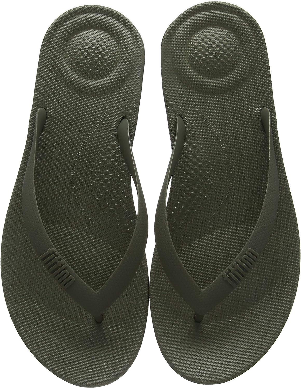 TALLA 43 EU. FitFlop Iqushion Ergonomic Flip-Flops, Sandalias con Punta Cerrada para Hombre