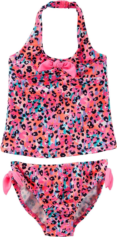 OshKosh BGosh Girls Leopard Print Tankini Print