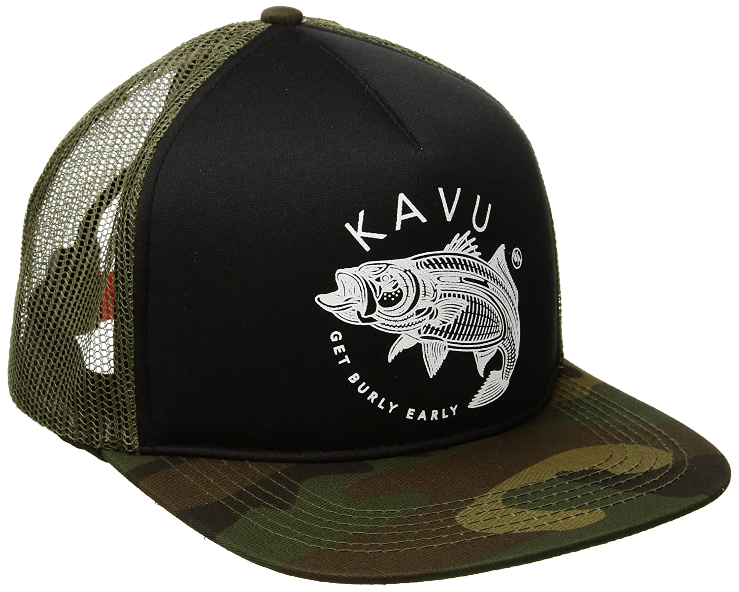 750ca906a Amazon.com: KAVU Get Burly Fishing Hat, Camo, One Size: Clothing