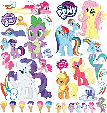 My Little Pony Cartoon Wall Stickers For Bedrooms Boys And Girls