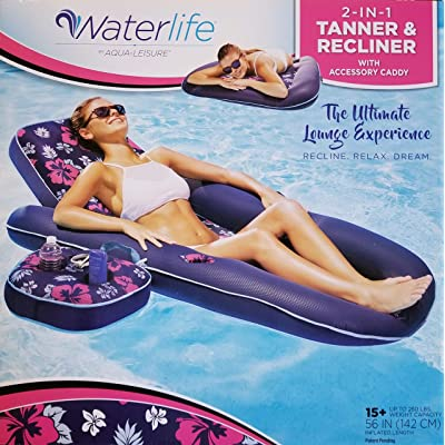 LIFE&WATER 2 - in - 1 Tanner & Recliner with Accessory Caddy: Toys & Games
