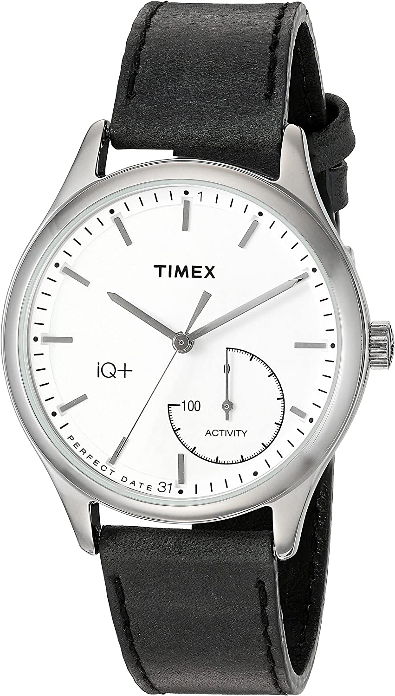 Timex Women's IQ+ Move Activity Tracker Smart Watch Set Black/Silver-Tone/White