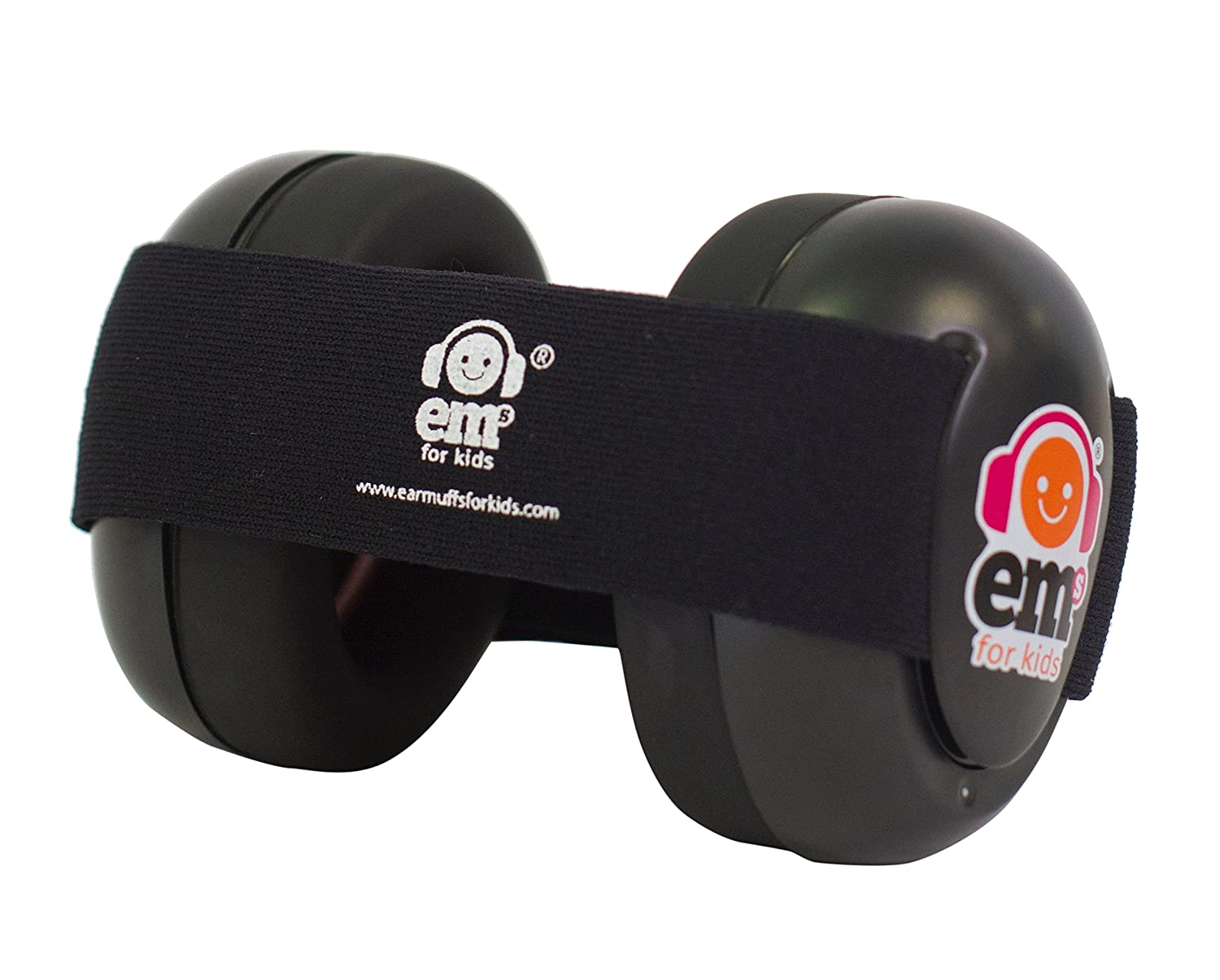 EMS for Kids Baby Earmuffs - Black with Black. The Original Baby Earmuffs, Now Made in The USA! Great for Concerts, Music Festivals, Planes, NASCAR, Motor Racing, Power Tools and More!