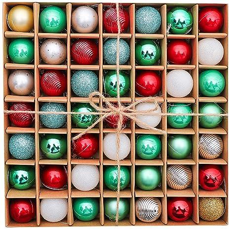 Christbaumkugeln Amazon.Victor S Workshop 49tlg 3cm Frohe Weihnachten Weihnachtskugeln Plastik Christbaumkugeln Weihnachtsschmuck Weihnachten Deko Neuheit Rot Grun Weiss