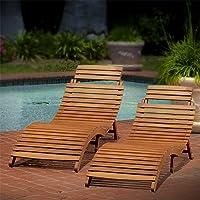 Lisbon Outdoor Wood Chaise Lounge Set
