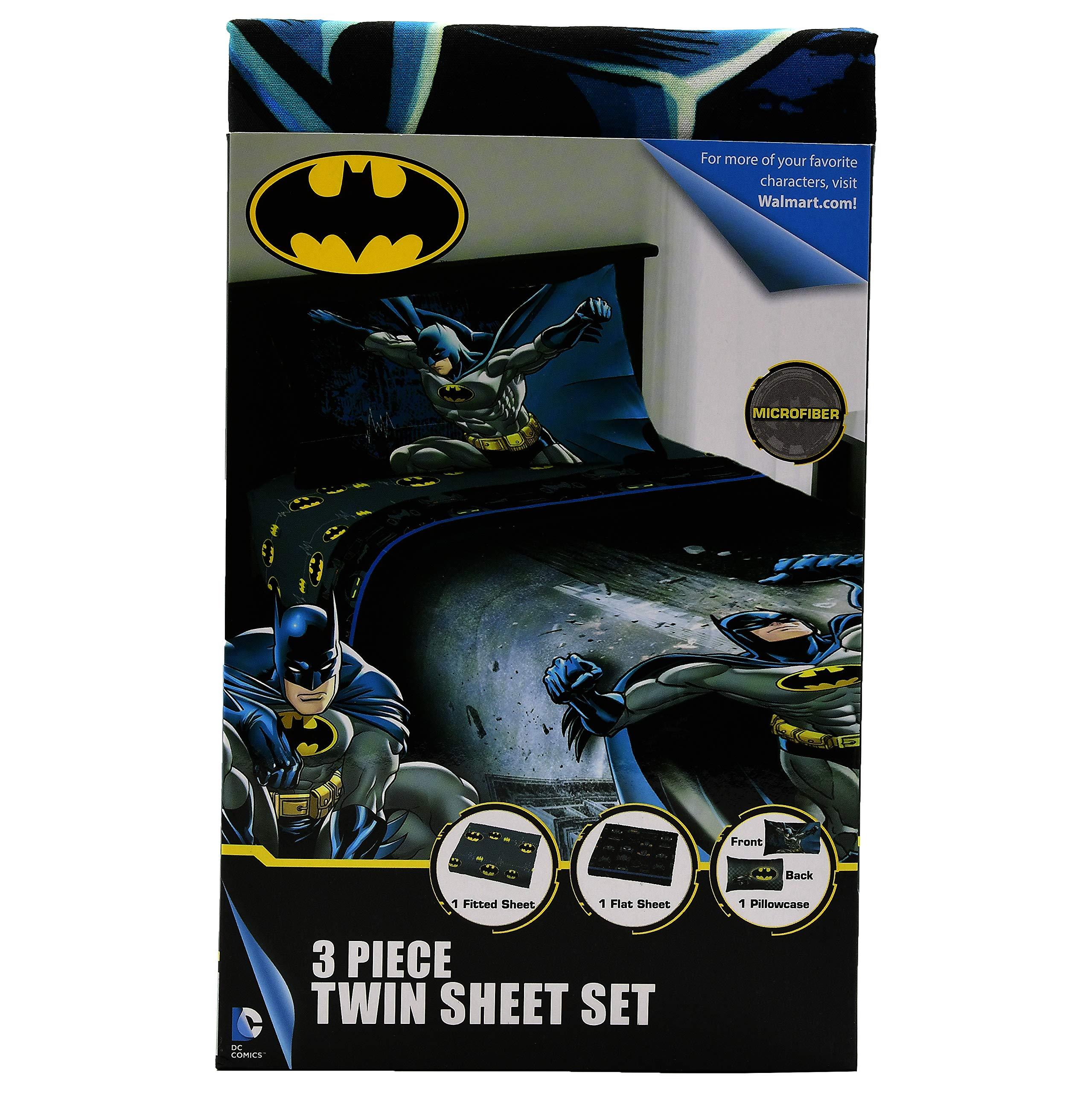 Batman The Dark Knight Kids Twin Bedding Sheet Set