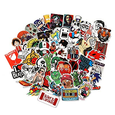 CHNLML Love Sticker Pack 100-Pcs,Cool Sticker Decals Vinyls for Laptop,Kids,Cars,Motorcycle,Bicycle,Skateboard Luggage,Bumper Stickers Hippie Decals Bomb Waterproof(Not Random) (D): Computers & Accessories