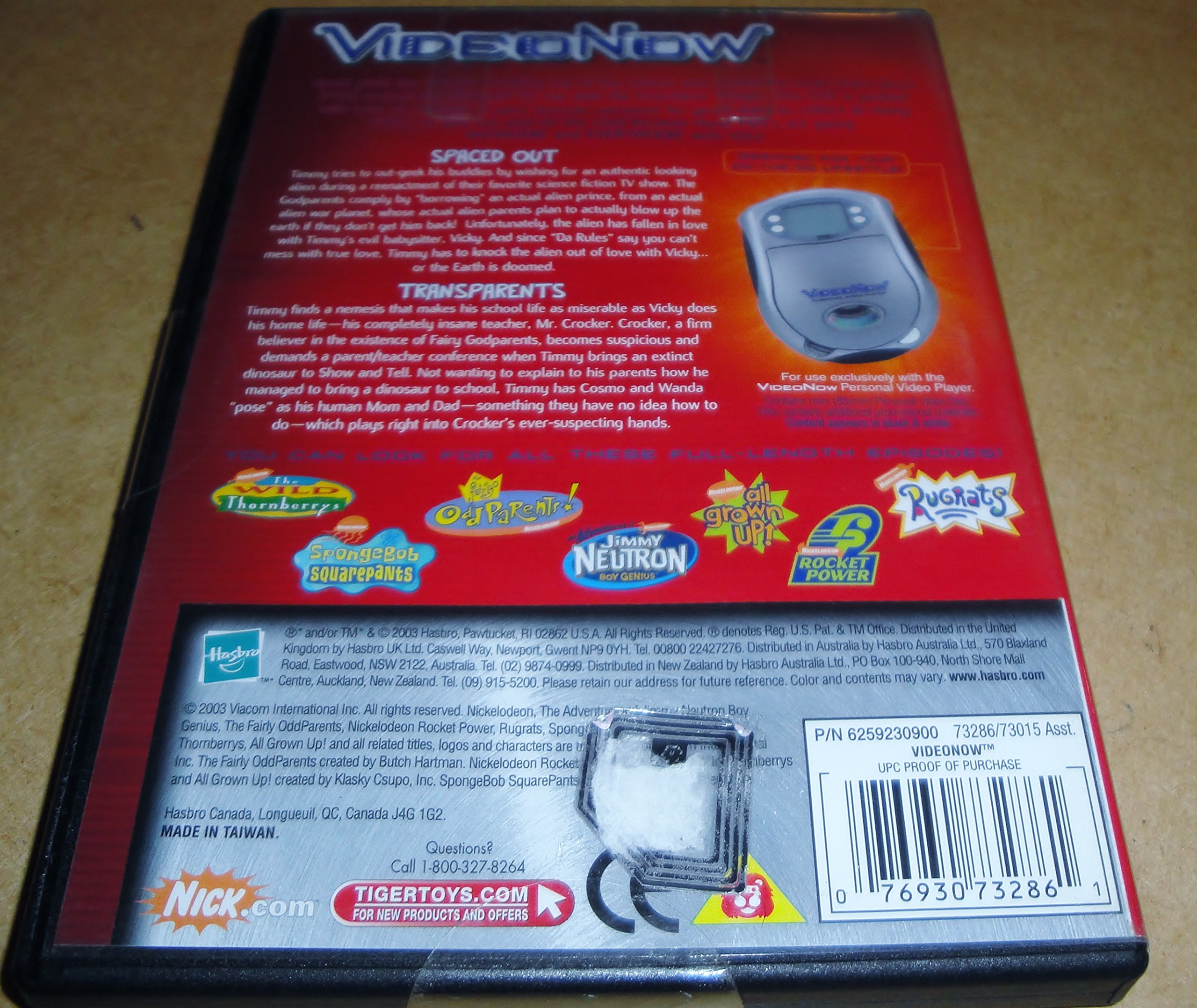 Nickelodeon Video Now The Fairly Odd Parents ''Spaced Out'' & ''Transparents'' by Video Now (Image #2)