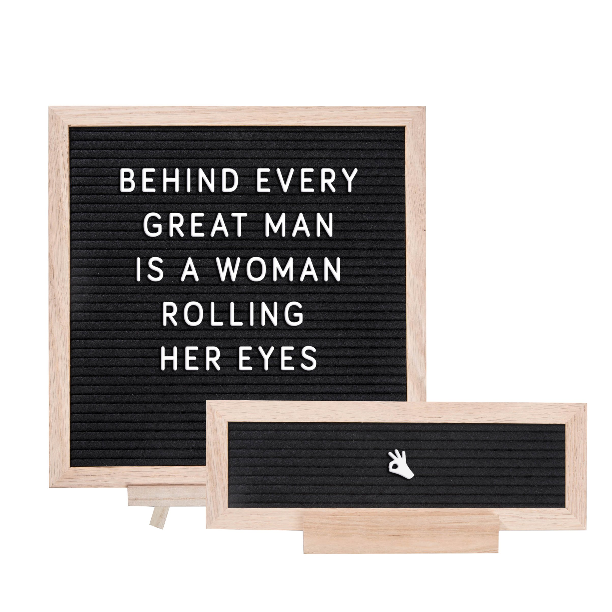 """ETHONS Felt Letter Board Super Pack - 2 Quality Letter Boards 12""""x12"""" & 12""""x4"""" - Personalize with 640 Characters in White & Gold - Gift-Ready Display Boards - Includes 2 Wood Stands and 2 Canvas Bags by ETHONS (Image #7)"""