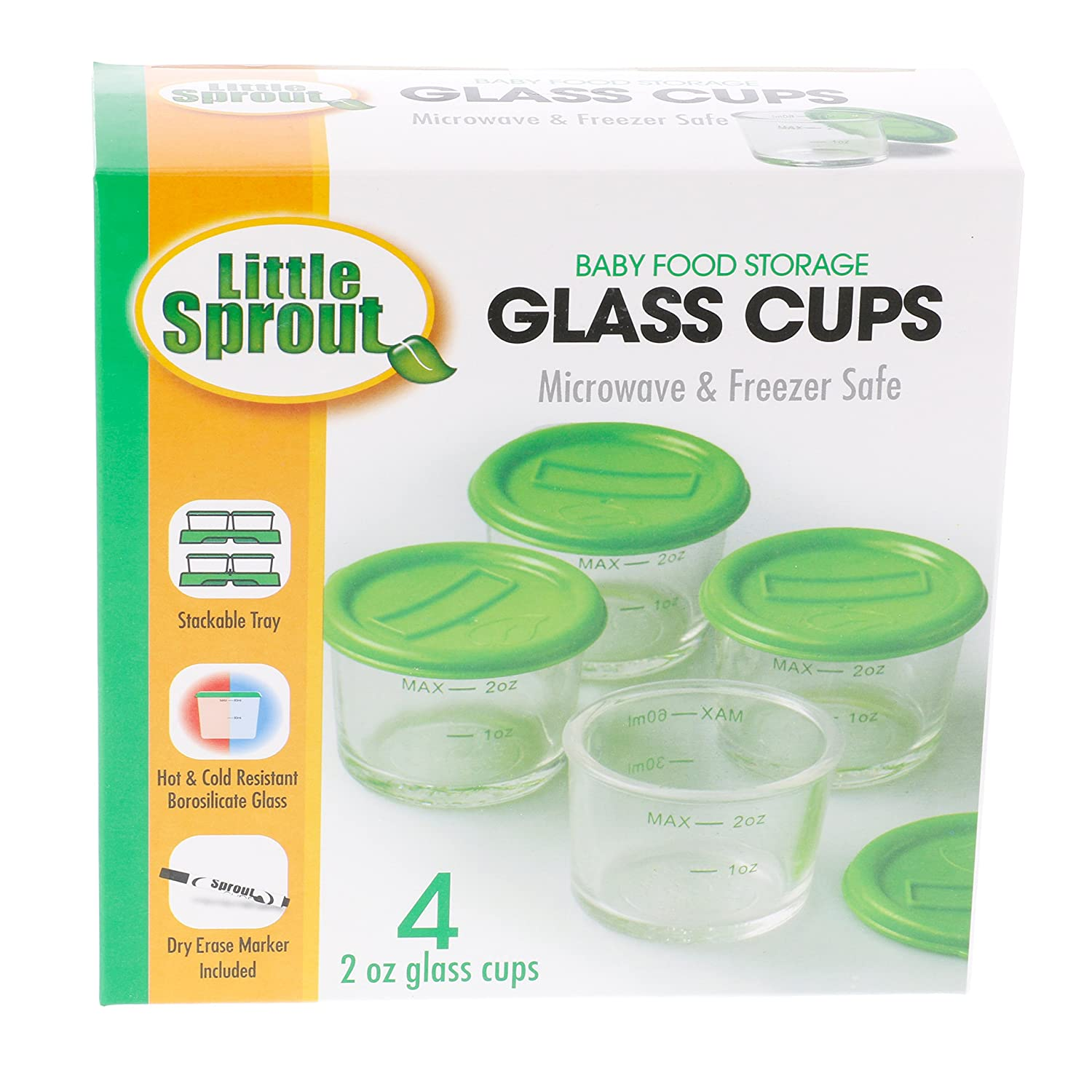 Amazoncom Glass Baby Food Jars 4pk 2oz Microwavable Freezer