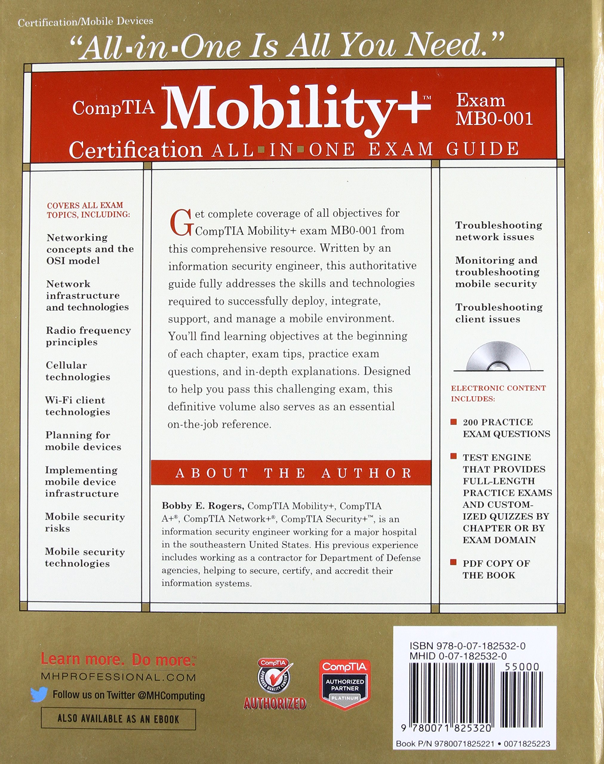 Buy comptia mobility certification all in one exam guide exam buy comptia mobility certification all in one exam guide exam mb0 001 book online at low prices in india comptia mobility certification all in one xflitez Choice Image