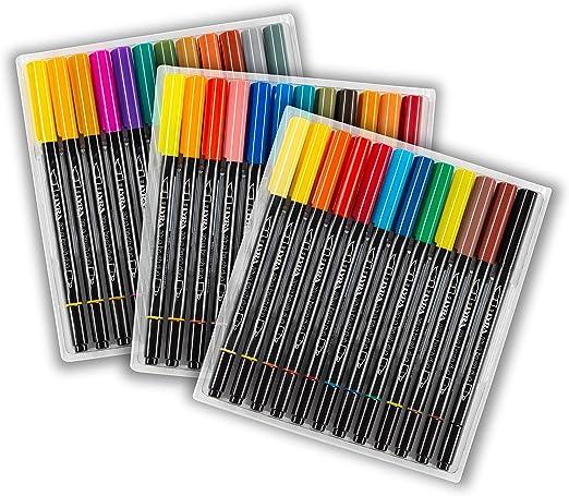 Lyra 6521360 - Pack de 36 rotuladores con punta pincel y punta ...