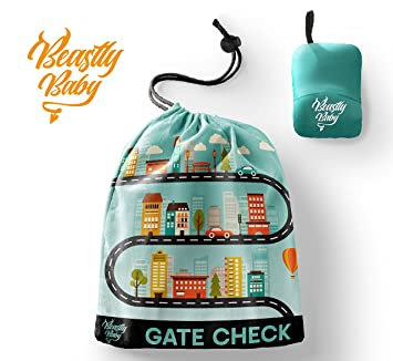 20078ad5beb7 Car Seat Travel Gate Check Bag By Beastly Baby - Heavy Duty Air Traveling  Storage