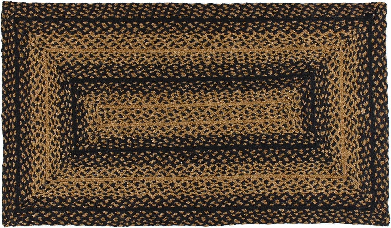 IHF Home Decor Braided Area Rug Ebony 22