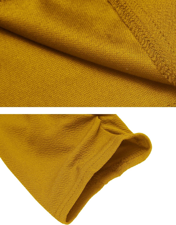 Zeagoo Womens 3//4 Ruched Sleeve Open Front Lightweight Work Office Blazer Jacket