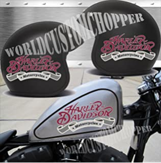 Harley Davidson Stickers  X Helmet And  X Fuel Tank - Motorcycle custom stickers and decals uk