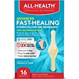 All Health All Health Advanced Fast Healing Hydrocolloid Gel Bandages, Fingers & Toes, 16 ct | 2X Faster Healing for…