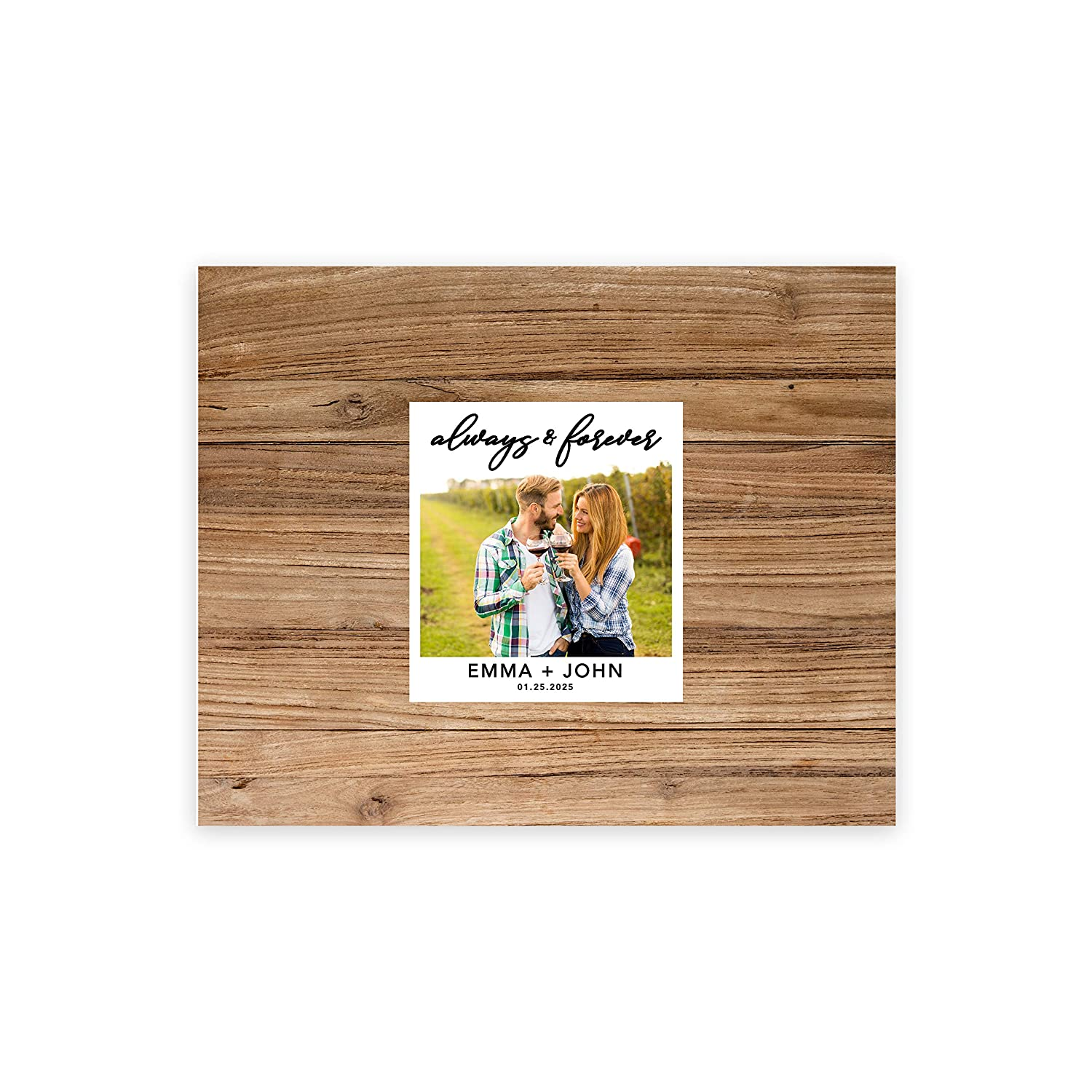 Welcome Sign for Fall Horizontal Personalized Sign Our Canvas Always /& Forever Rustic Wood Photo Andaz Press Custom Large Wedding Canvas Guestbook Alternative 16 x 20 Inches Rustic Theme
