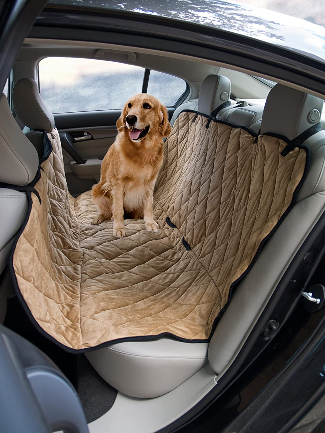 Medium image of amazon     sonnyridge dog hammock  u0026 seat covers for dogs  this pet car seat cover protects your back seat from dirt hair or dander