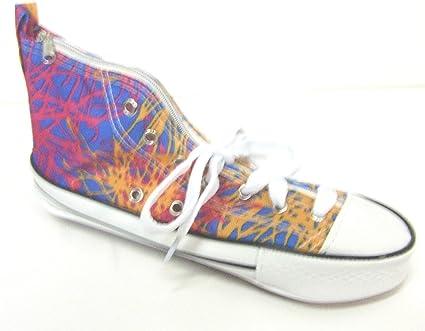 Azul Rosa y naranja Splash – Sneaker estuche en un Converse diseño de zapatillas: Amazon.es: Oficina y papelería