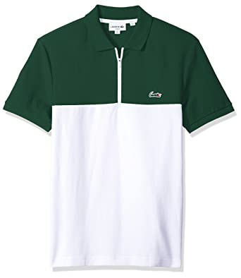 Color Short Men's Honeycomb Sleeve Pique Slim Polo Lacoste Block k8wnX0OP