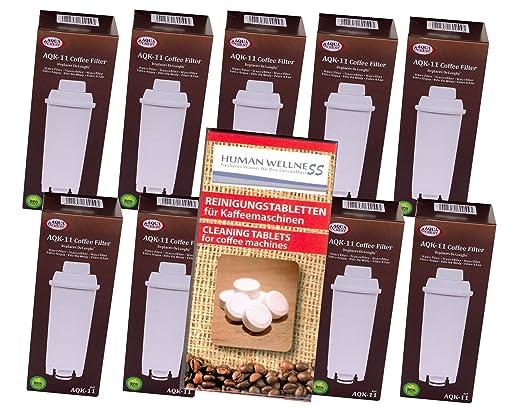 Human-Wellness 10 x aqk de 11 - Filtro de Agua para cafetera de ...