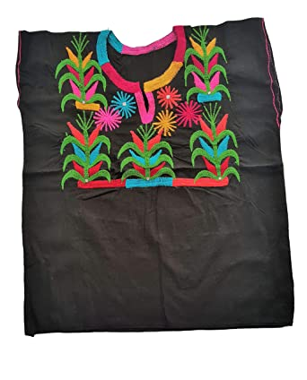 Ambar Chanty Bejewelded Flowers Corn Field Mexican Embroidered