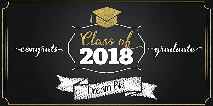 amazon com dream big personalized graduation banner class of 2018