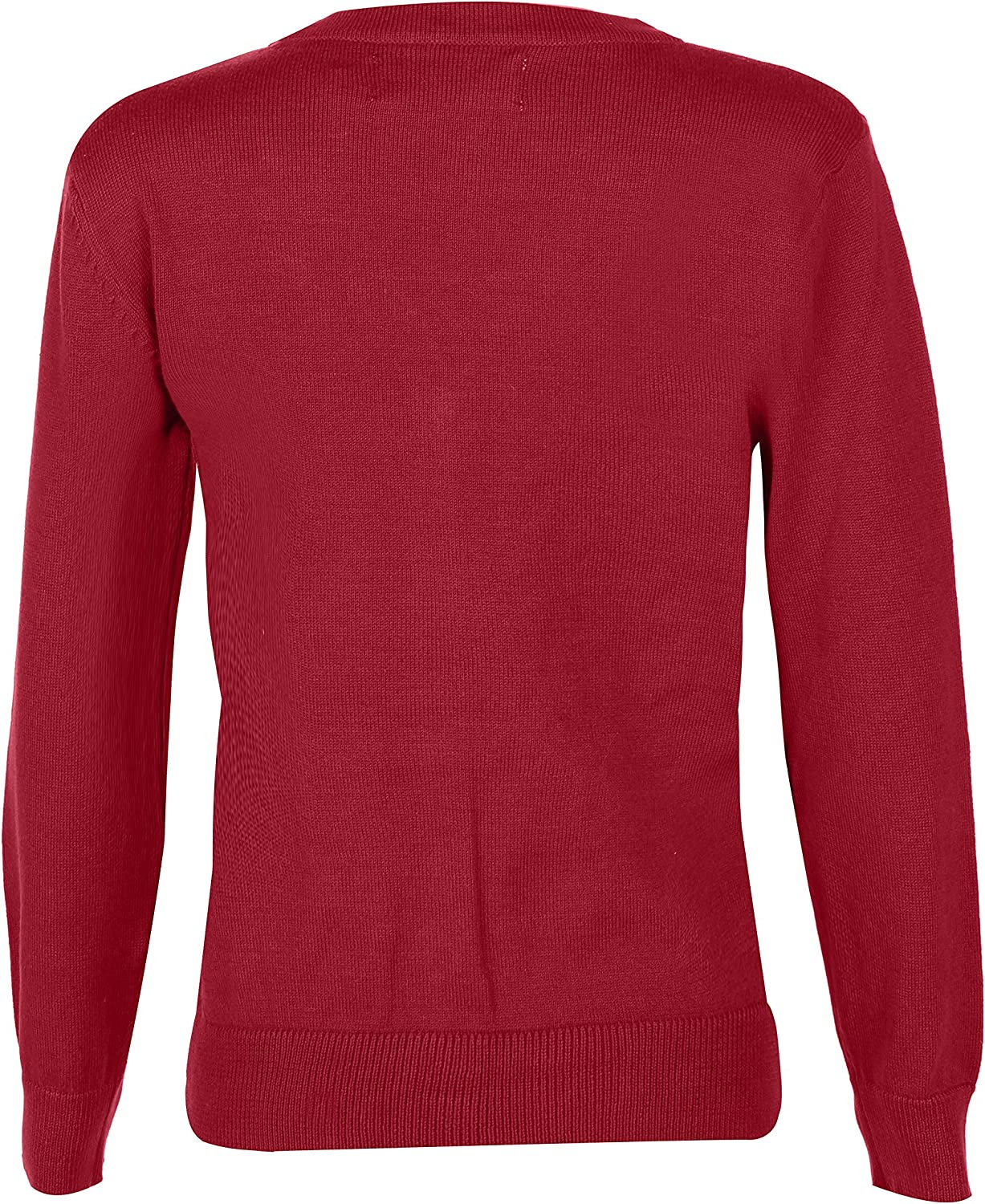 BHS Girls Cardigans with Pockets V-Neck School Uniforms Long Sleeve All Year Around Blu Cherry