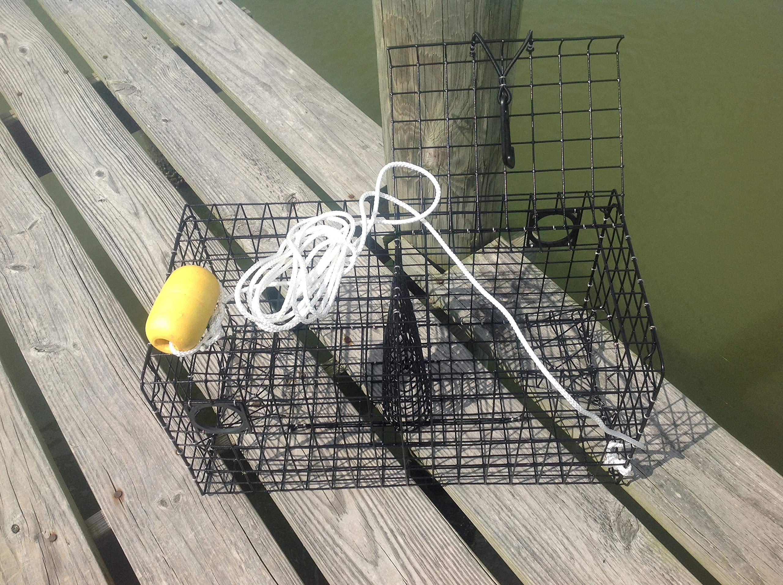 Maryland Blue Crab Pot Trap Chesapeake Atlantic Blue Crab PVC Coated Metal Heavy Duty