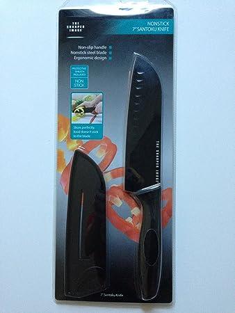 Amazoncom The Sharper Image Nonstick 7 Santoku Knife With