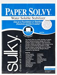 Water Soluble Fabric Stabilizer 12 Per Package 8-1//2 by 11-Inch Product Dimensions: 13.25 x 0.07 x 9 inches