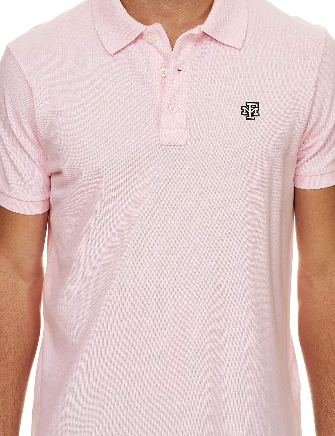 Franklin & Marshall Mens Embroidered Logo Polo T-Shirt Pink in ...
