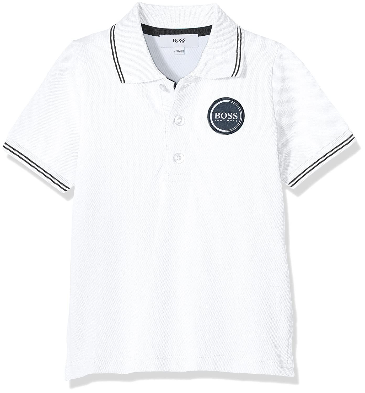 17420722d4d95 BOSS Baby Boys  J05Y04 Polo Shirt White (Blanc 10B) 3 Years (Size  03A)   Amazon.co.uk  Clothing