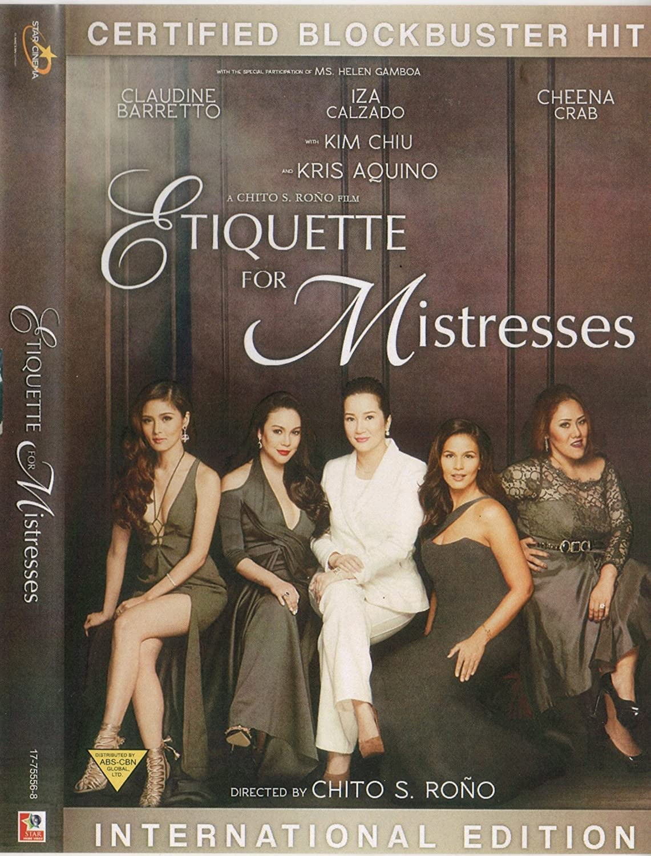 Amazon Com Etiquette For Mistresses Filipino Dvd Kris Aquino Claudine Barreto Iza Calzado Kim Chiu Antoinette Jadaone Movies Tv