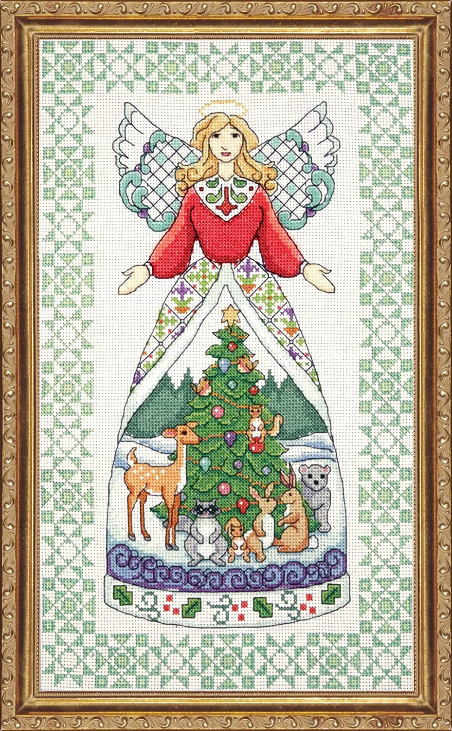 Tobin DW2809 14 Count Counted Cross Stitch Kit Winter Angel-Jim Shore 9 by 15-Inch