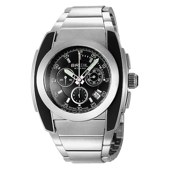 Breil BW0382 - Reloj cronógrafo de caballero de cuarzo con correa de acero inoxidable plateada (