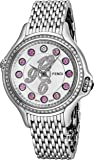 Fendi Crazy Carats Stainless Steel Real Diamond Watch for Women - 38mm Silver Face with Multi Color Gemstone Markers Swiss Made Analog Quartz Ladies Luxury Watches F105036000B3P02