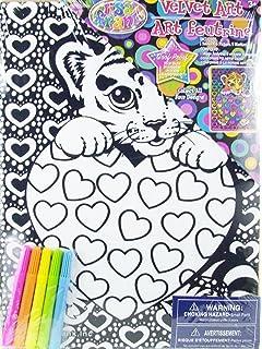 Amazon.com: Lisa Frank Velvet Coloring Sheet Art Kit and Markers ...