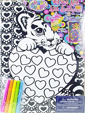 Amazon.com: Lisa Frank Velvet Art Set and Markers (Cub Love): Health ...