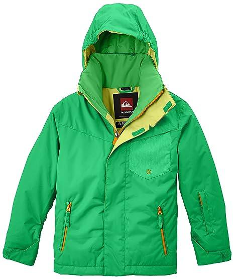 Quiksilver Snowboard Jacke Mission Y Jacket - Chaqueta de esquí para niño, color verde (