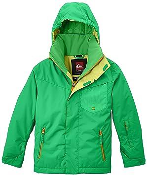 Quiksilver Snowboard Jacke Mission Y Jacket - Chaqueta de esquí para niño, color verde (poison green), talla XL: Amazon.es: Deportes y aire libre