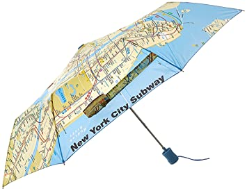 Manhattan Mta Mini Subway Map And Address Finder.Amazon Com M T A Folding Umbrella Nycs Subway Design Umbrellas