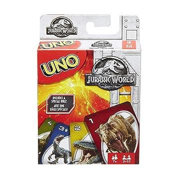 Mattel Games Juego De Cartas Uno Jurassic World Mattel Flk66