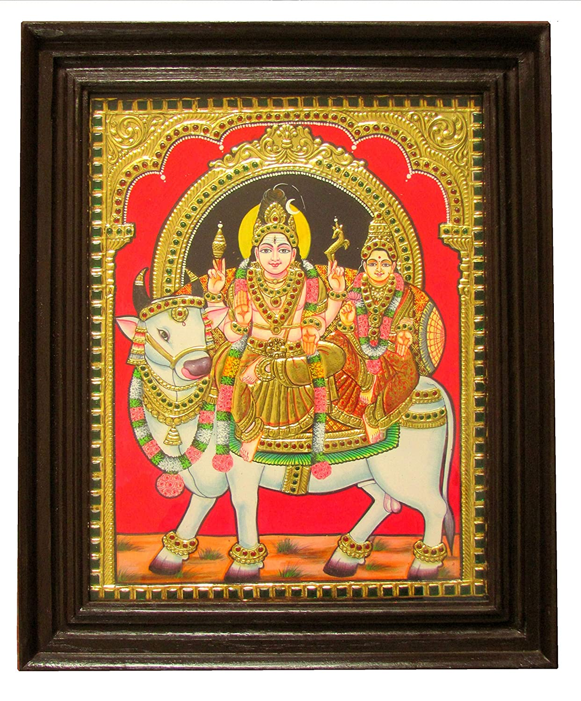 Chola Impressions Exclusive Shiva Parvati on Nandi (Rishabha