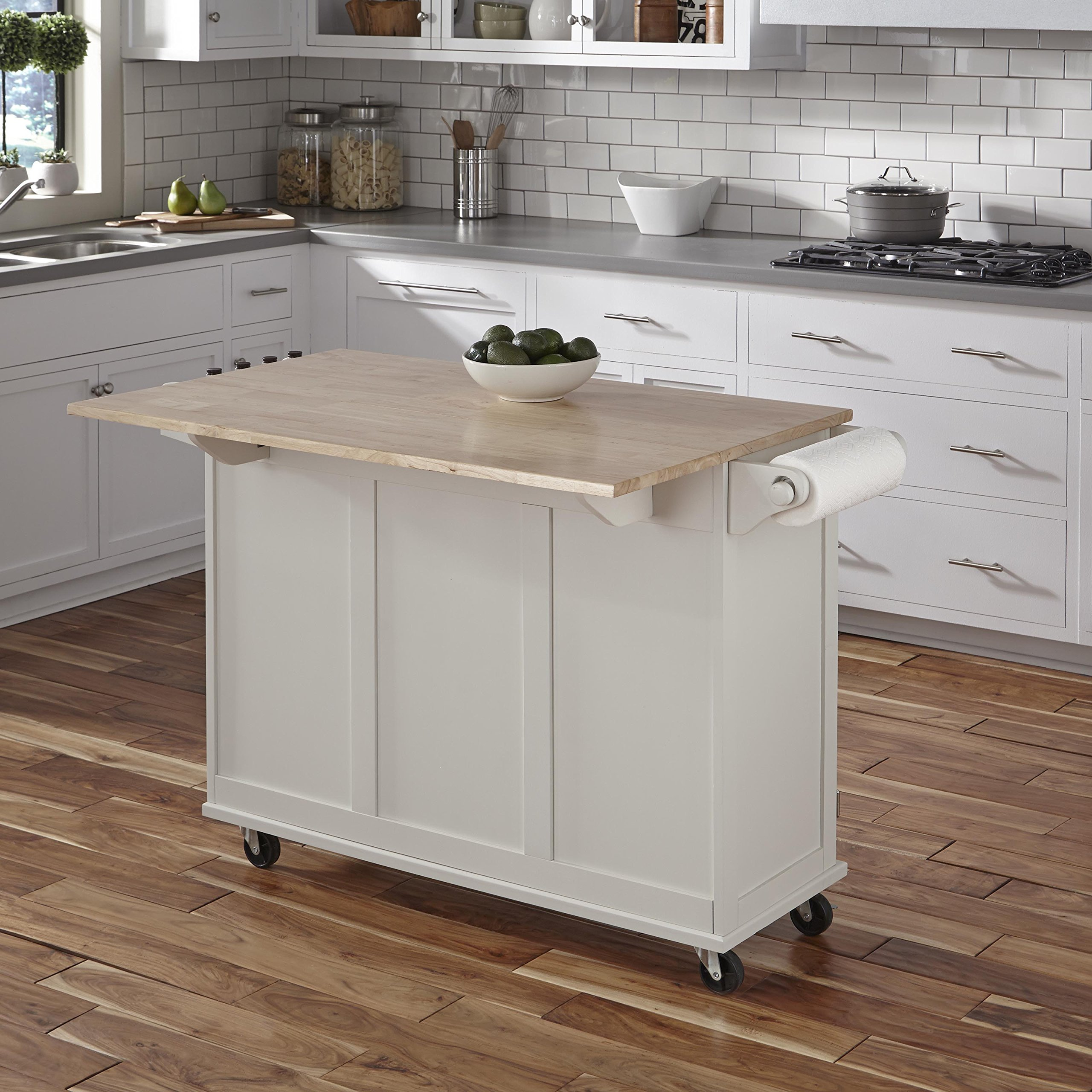 Home Styles 4511-95 Liberty Kitchen Cart with Wood Top, White by Home Styles (Image #7)