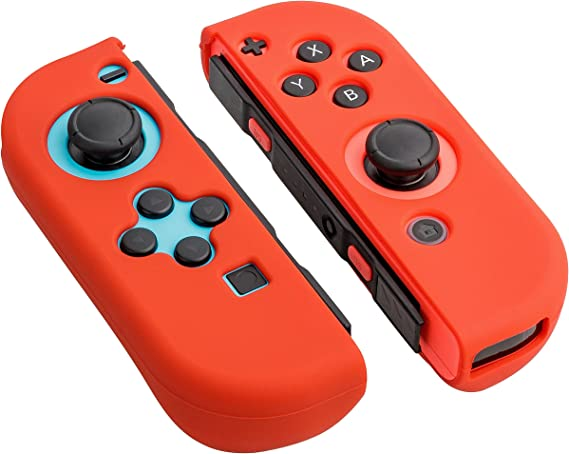 Funda protectora de silicona para Gaminger Nintendo Switch para el mando Joy Con Skin - Rojo: Amazon.es: Videojuegos
